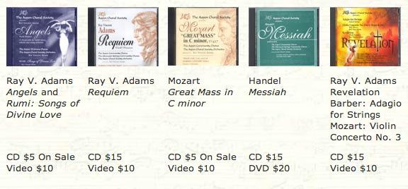 Choral Society CDs