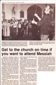 Newspaper article Get To the church on time